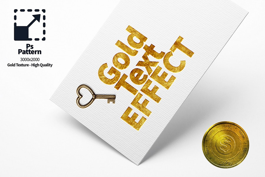 Gold Text Effect PSD