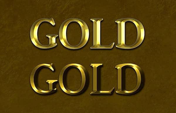 Gold Text Effects PSD
