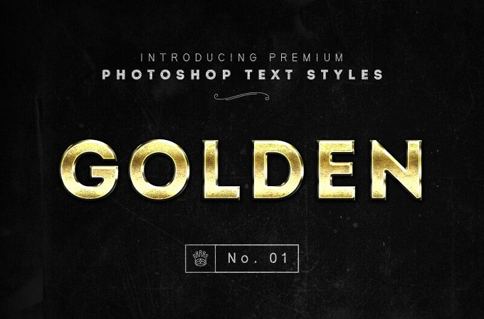 Gold Text Styles PSD