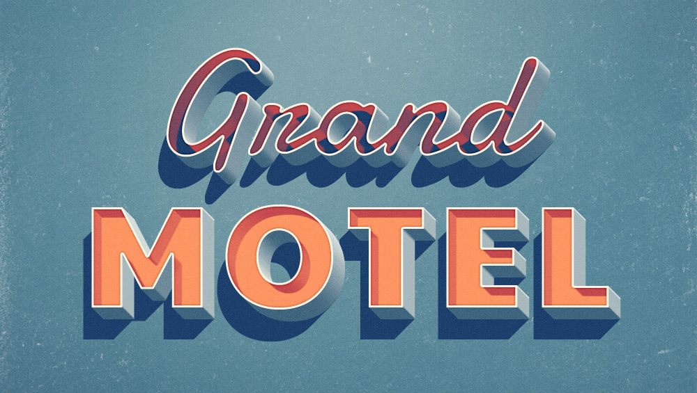 Grand Motel Text Effect PSD