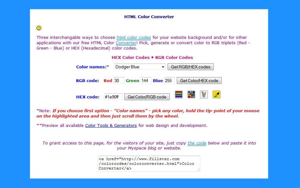 HTML Color Converter