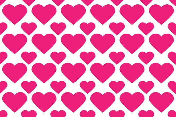 Heart Icon & Heart Seamless Pattern