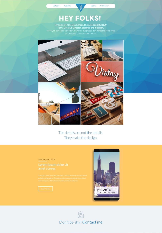 portfolio website templates psd css author hey folks