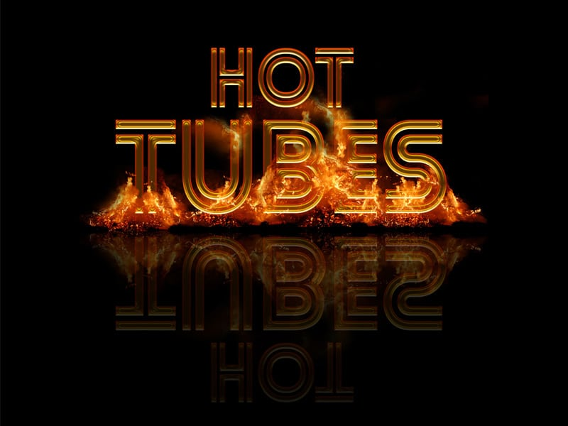 Hot Tubes Text Style PSD