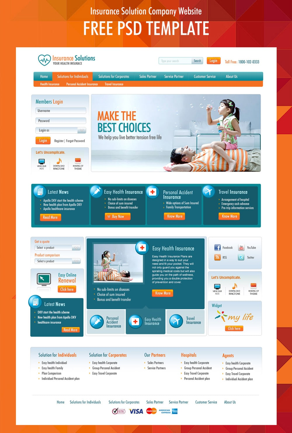 Free corporate and business web templates psd for Website templates free download