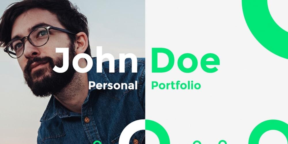 John Doe Free Portfolio Template PSD