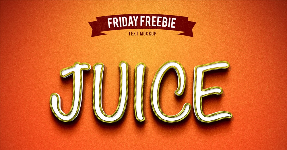 Juice Photoshop Text Effect