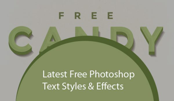 Latest Free Photoshop Text Styles & Effects