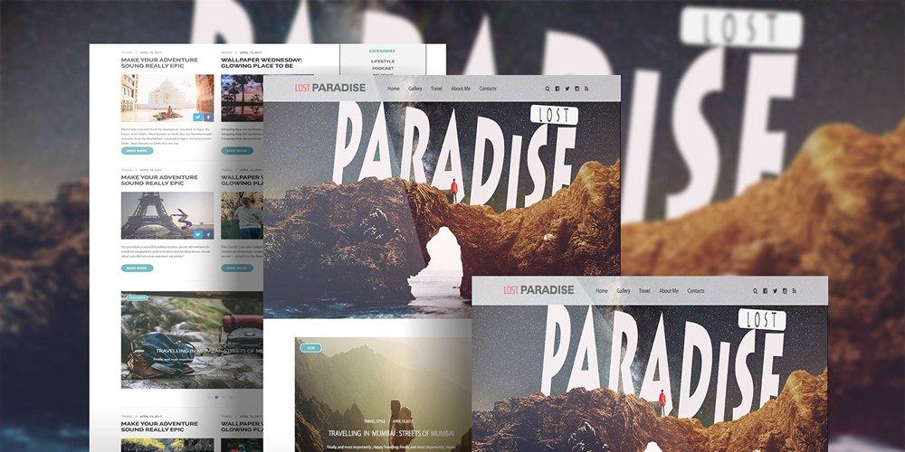 LostParadise Free Travel Blog PSD