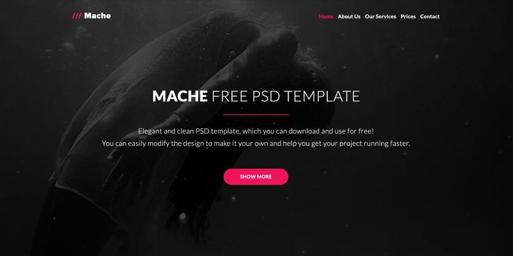 Mache Web Template PSD