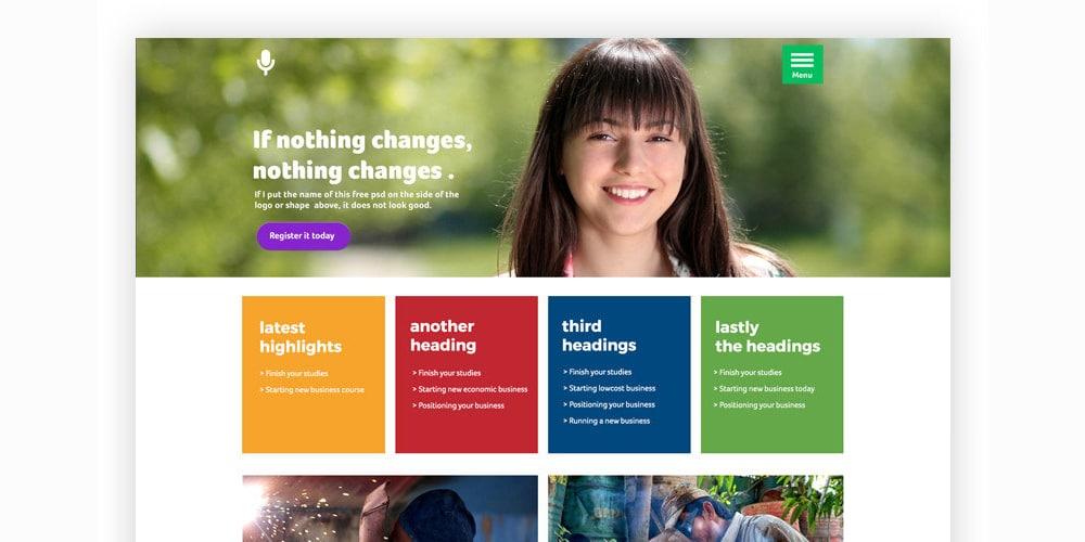 Maya Free Web Template PSD