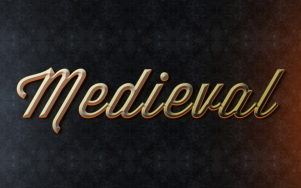 Medieval Text Style PSD