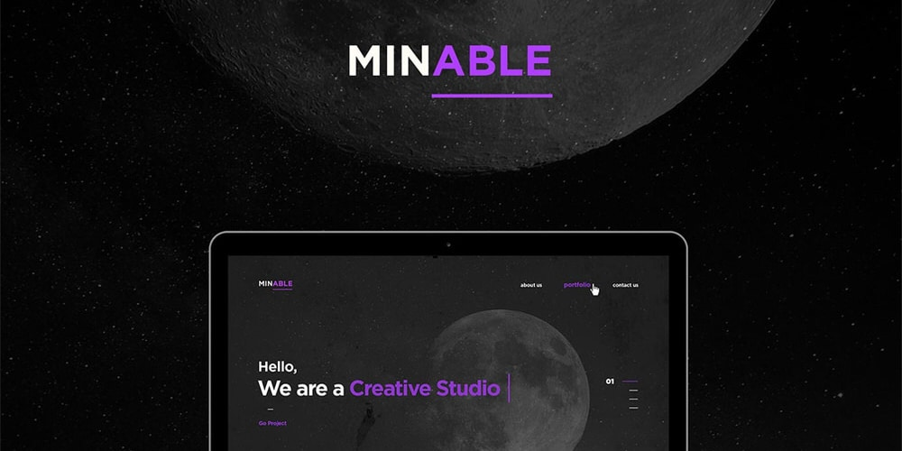 Minable – Free Portfolio Web Template