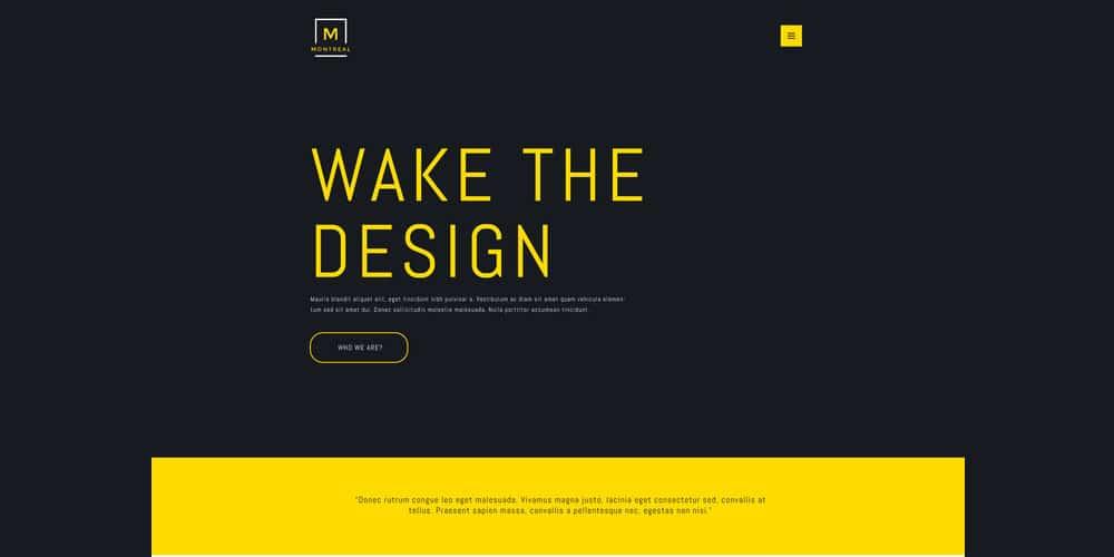Montreal Creative Portfolio Web Template PSD