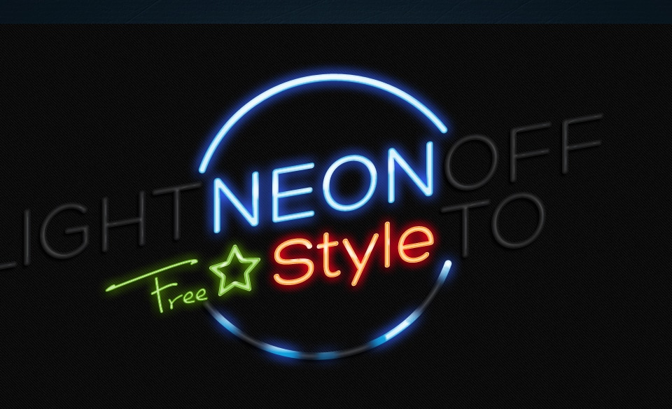 Neon Text Effect PSD
