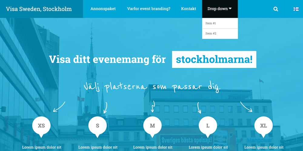 Nordic Website Concept Free PSD