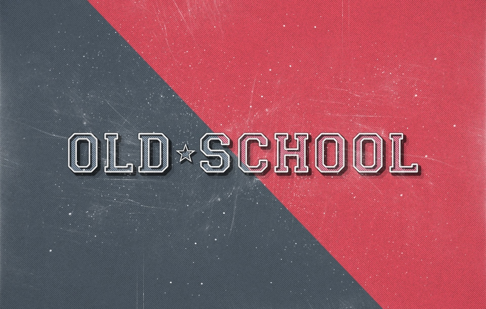 Old School Retro Text Effect PSD