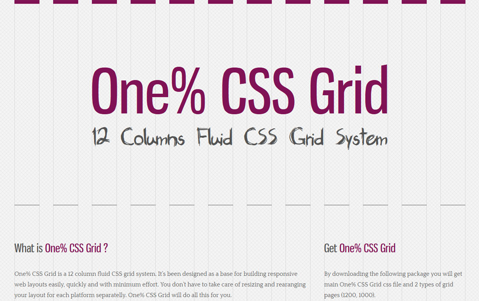 One% CSS Grid