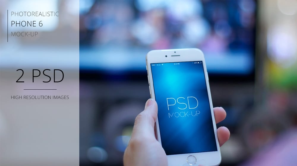 Photorealistic Iphone 6 Mockup PSD