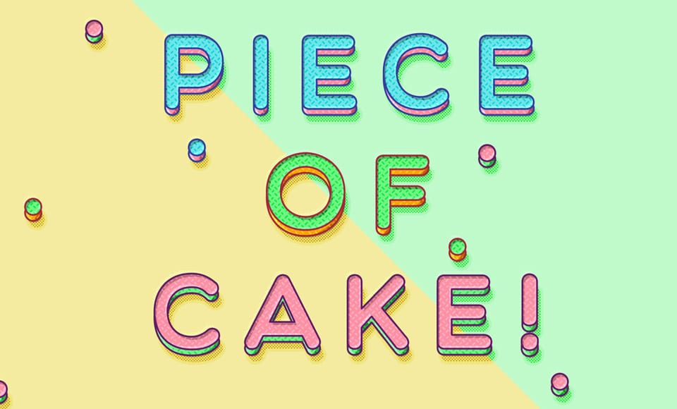 Piece of Cake Text Effect PSD