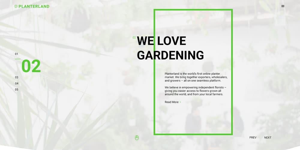 Planterland - Free Web Template PSD