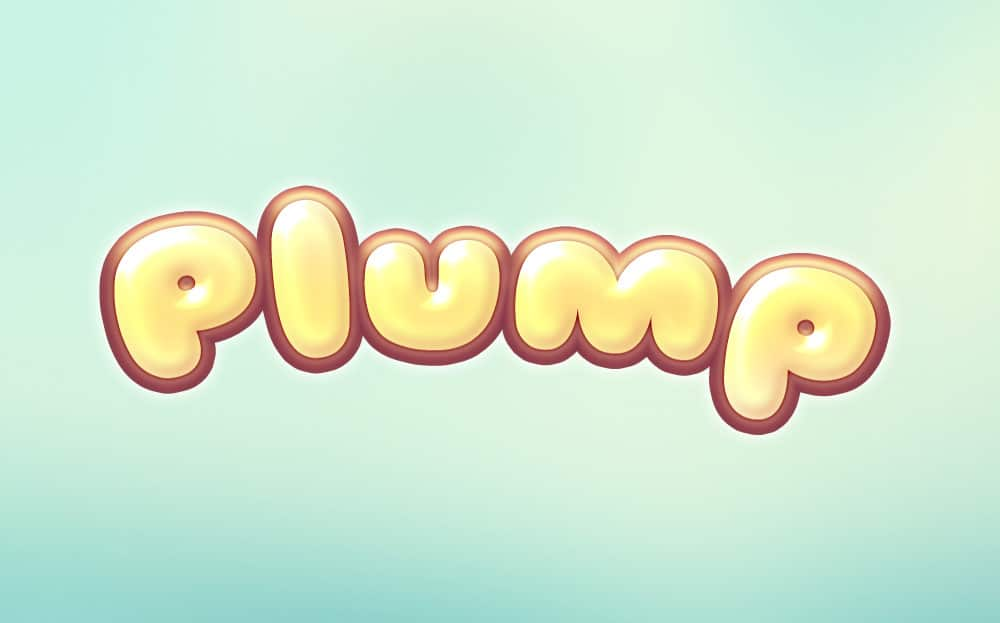 Plump Text Effect PSD