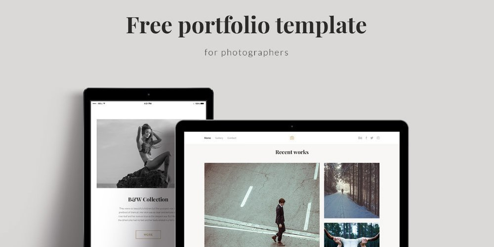 Portfolio Template PSD for Photographers