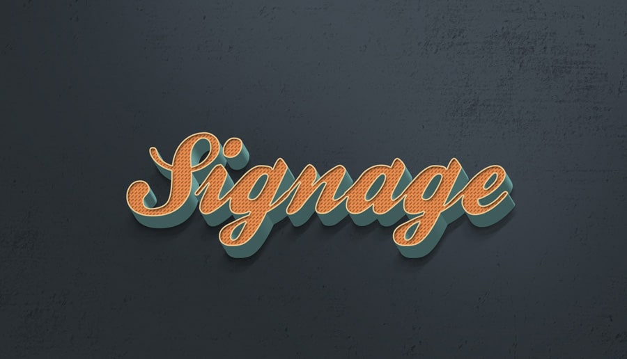 Retro Photoshop Text Effect PSD