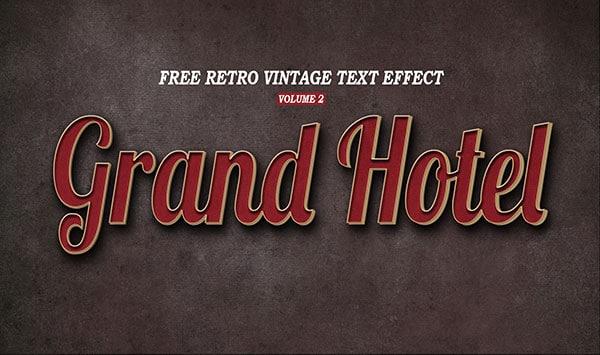 Retro Vintage Text Effect PSD