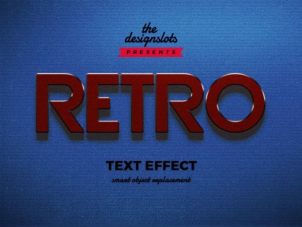 Retro Vintage Text Effect PSD