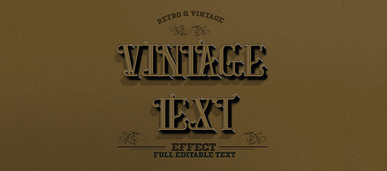 Retro & Vintage Text Effect v2