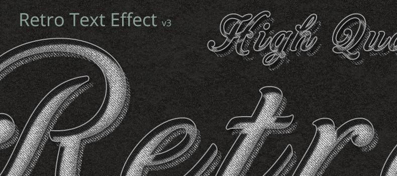 Retro & Vintage Text Effect v3