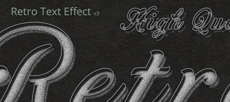 Retro & Vintage Text Effect v3