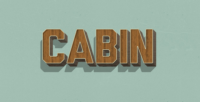 Retro Wood Text Styles PSD