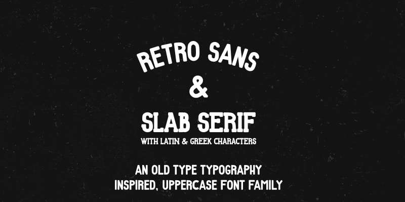 Retro free font