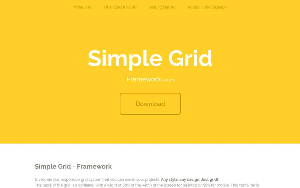 Simple Grid Framework