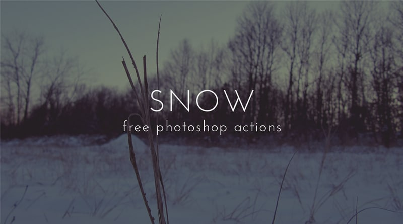 Snow Free Photoshop Actions