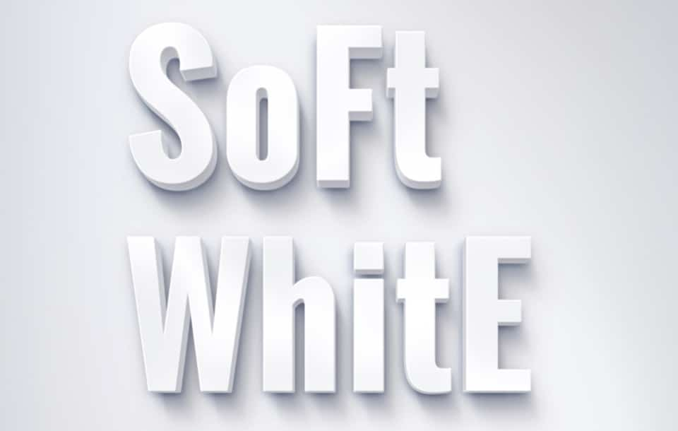 Soft White Text Effect PSD