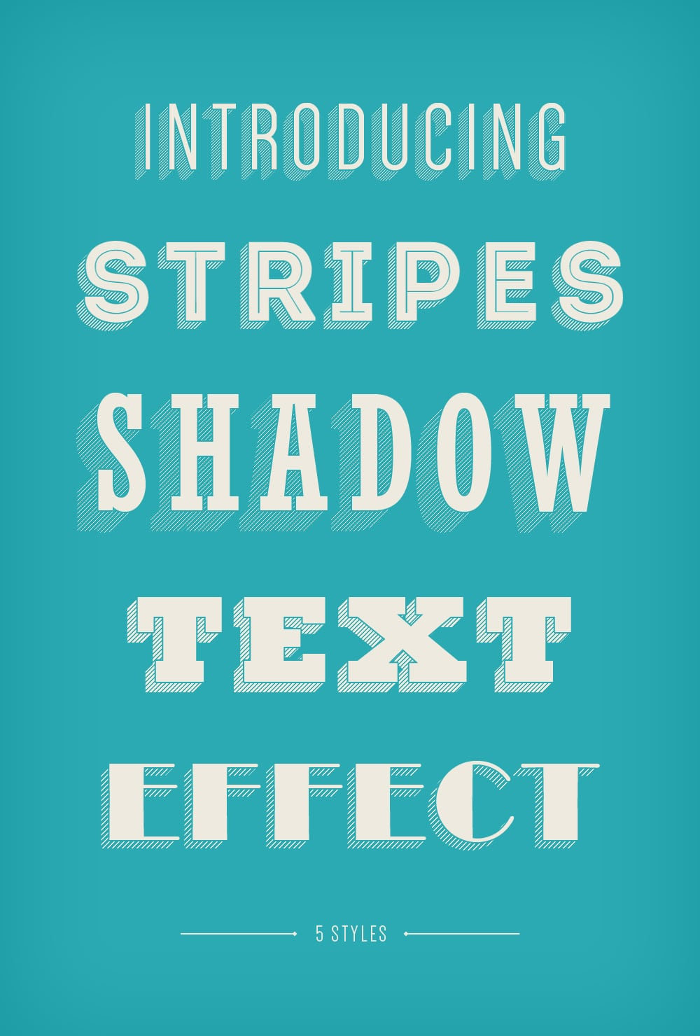 Mysterious poster design with 3d text - Stripes Shadow Text Effect Psd