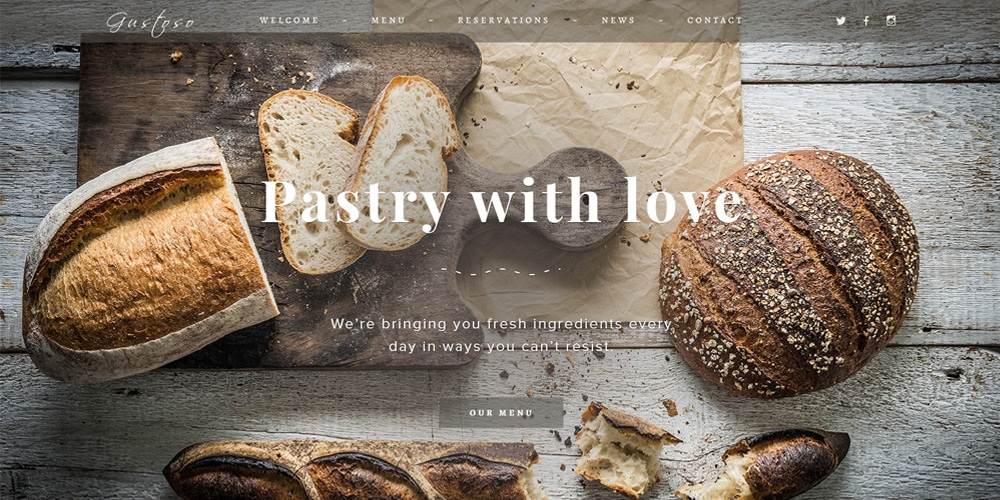 The Bakery Web Template PSD