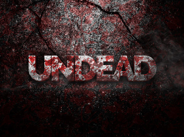 Undead 3D Text Effect PSD