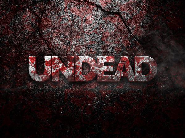 Undead 3D Text Effect PSD