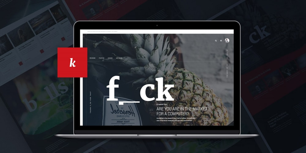 Unique Magazine Web Template PSD