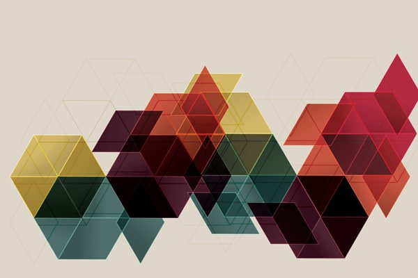 Vector Geometric Cube Abstract Background