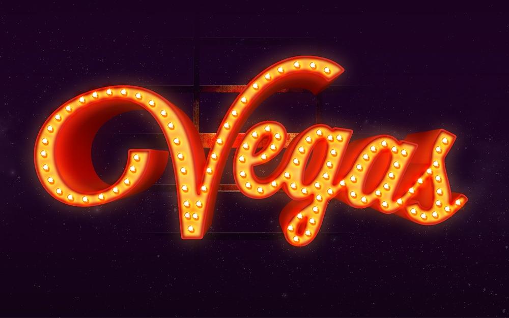 Vegas Text Effect PSD