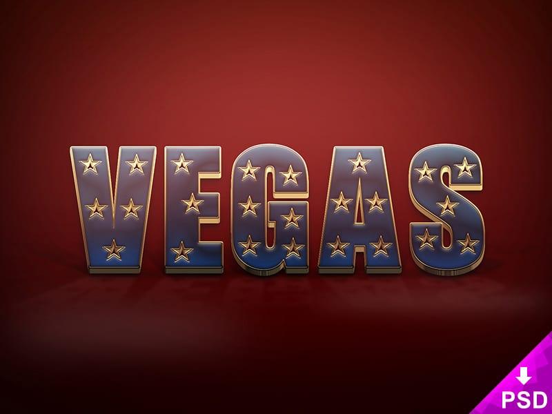 Vegas Text Style PSD