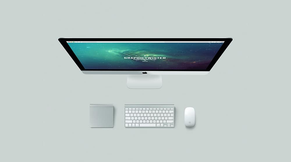 Vertical iMac Mockup