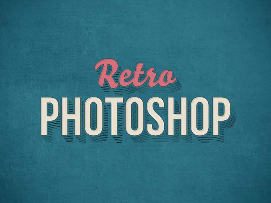 Vintage Photoshop Text Effect PSD