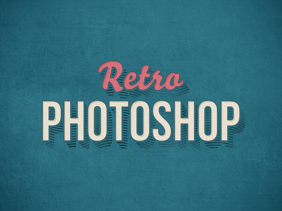Vintage Photoshop Text Effect PSD