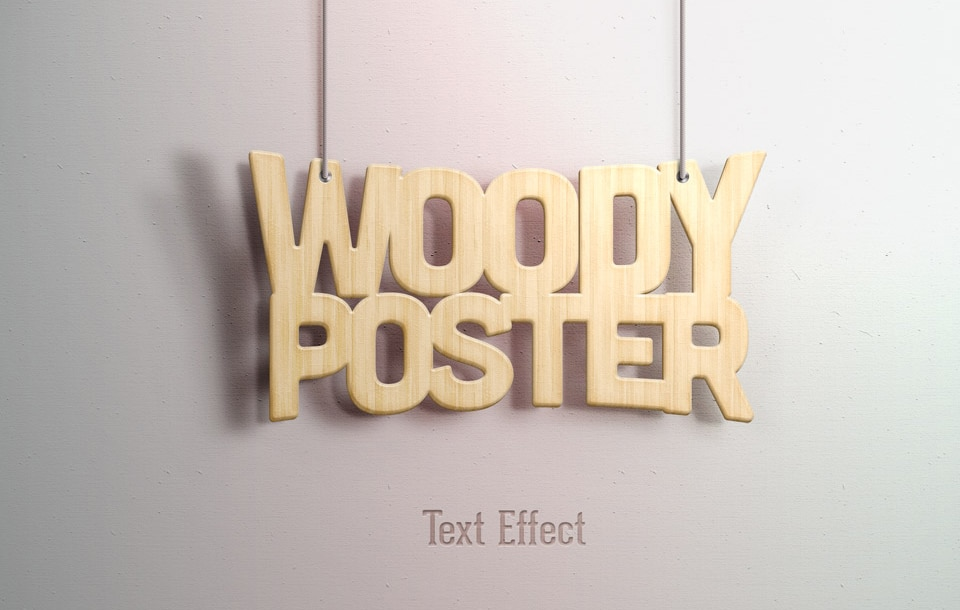 Woody Text Effect PSD